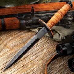 V42 Military Stiletto Dagger with Sheath