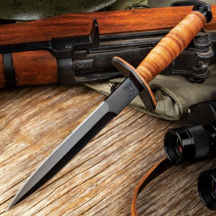 V42 Military Stiletto Dagger With Sheath Budk Com