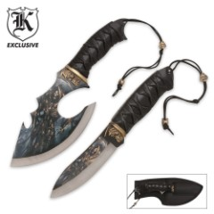 Grim Reaper Custom Knife Set & Sheath