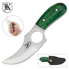 Gator Skinner with Finger Hole and Sheath