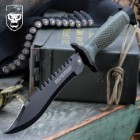 SOA One Shot, One Kill Survival Bowie Knife And Sheath
