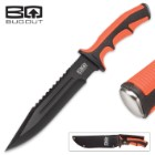 BugOut Cataclysm Bowie Knife with Nylon Belt Sheath