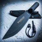 Amazon Jungle Survivor Spearhead with Fire Starter and Nylon Sheath - 1045 High Carbon Steel