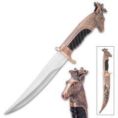 Royal Hunter Deer Head Knife - Copper