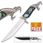 Bush Viper Fantasy Fixed Blade Knife with Polished Black Sheath - BOGO