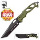SOA One Shot One Kill Green Fixed Blade Knife - BOGO