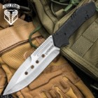 Bushmaster Mission Ready Fixed Blade Knife And Sheath – 3Cr13 Stainless Steel, G10 Handle Scales – Length 8 1/2""