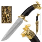 Golden Stag Hunting Lodge Knife