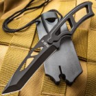 Tactical Warrior Tanto Neck Knife with Lanyard And Sheath