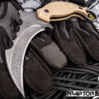 Stone Raptor Karambit - 3Cr13 Stainless Steel, Titanium Coated, G10 Handle Scales, Open-Ring Pommel - Length 8 1/4""