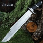 Raptor Machete With Sheath - Stainless Steel Blade, Pakkawood Handle, Stainless Steel Guard And Pommel - Length 20 1/2""