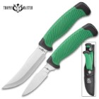 Trophy Master Wahoo Killer Two-Piece Set With Sheath - Stainless Steel Blades, ABS Rubberized Handles, Fixed Blades