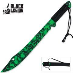 Black Legion Green Skull Mayhem Machete