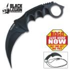 Black Legion Ninja Warrior Karambit Neck Knife With Sheath - BOGO