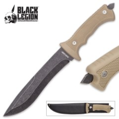 Black Legion Desert Warrior Tan Fixed Blade Knife