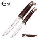 Case Leather Two-Knife Set