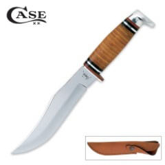 Case 10 3/4 Inch Leather Hunter Knife