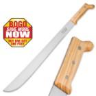 Imacasa Classic Machete - High Carbon Steel / Wooden Handle - 22 In. BOGO