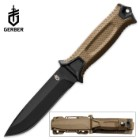 Gerber StrongArm Fixed Blade Knife - Fine Edge - Coyote Brown