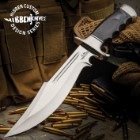 Gil Hibben Legionnaire Bowie Knife - 7Cr17 Stainless Steel Blade, Black Pakkawood Handle, Stainless Steel Guard And Pommel, Leather Belt Sheath
