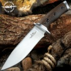 Gil Hibben Tundra Hunter Fixed Blade Knife With Sheath - 420HC Stainless Steel Blade, Wooden Handle Scales, Stainless Steel Pommel - Length 11""