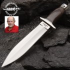 """Hibben Double Edge Boot Knife With Sheath - 5Cr15 Steel Blade, Pakkawood Handle, Stainless Steel Guard And Pommel - Length 10 3/8"""""""