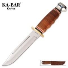 KA-BAR Marine Hunter Knife with Leather Sheath
