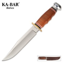 KA-BAR Bowie Knife with Leather Sheath
