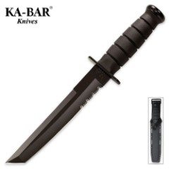 KA-BAR Classic Tanto Knife Black & Sheath