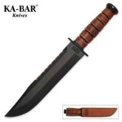 KA-BAR Big Brother Leather Handle Knife