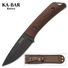 "KA-BAR Jesse Jarosz ""Globetrotter"" Fixed Blade Knife with Sheath"