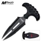 MTech Ballistic Stonewash Push Dagger Black
