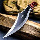 """Master Cutlery Survivor Fixed Blade Knife With Sheath – 3Cr13 Stainless Steel Full-Tang Blade, Pakkawood Handle – Length 15"""""""