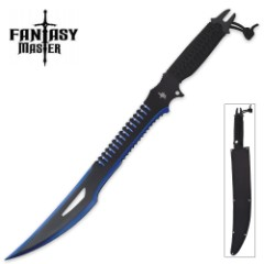 Fantasy Master Black-and-Blue Satin Fantasy Blade w/ Nylon Sheath