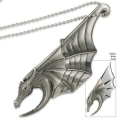 Cutting Dragon Wing Hidden Blade Necklace