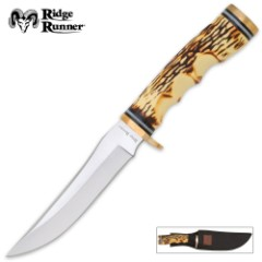 Ridge Runner Large Wichita Skinner Knife with Sheath