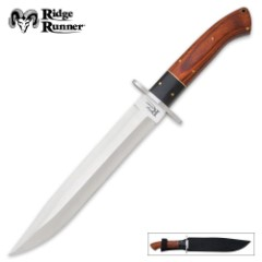 Ridge Runner Montana Toothpick Bowie Knife & Sheath