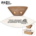 Ridge Runner Alaskan ULU Knife with Hardwood Stand