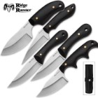Ridge Runner 5-Piece Black Wooden Knives Set