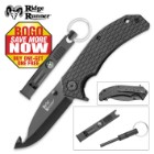 Ridge Runner Survivalist 2-Piece Assisted-Open Pocket Knife/Gut Hook Kit - BOGO