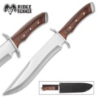 Ridge Runner Tallulah Gorge Bowie Knife With Sheath - 3Cr13 Stainless Steel Blade, Full-Tang, Pakkawood Handle Scales - Length 16""