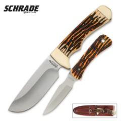 Schrade Uncle Henry Elk Hunter Fixed Blade Combo Knife Set