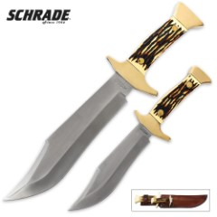 Schrade Uncle Henry Running Stag Combo Bowie Set