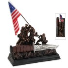 Iwo Jima Bowie With Memorial Sculpture Display