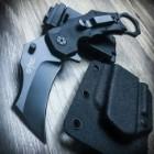 "7.5"" Tactical Combat Folding Open Karambit Pocket Knife + Quick Release Sheath"