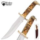Timber Rattler Southwestern Sands Bowie Fixed Blade Knife Genuine Bone