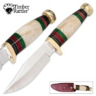 Timber Rattler Cowboy Bowie Knife Genuine Bone Fixed Blade