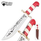 Timber Rattler 2015 Limited Edition Christmas Fixed Blade Bowie Knife With Sheath
