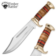 Timber Rattler Thunder Basin Bowie Knife with Leather Sheath