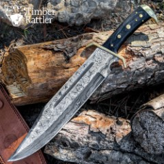 Timber Rattler Western Outlaw Damascus Bowie